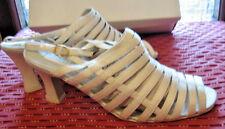 Donna Sandali con tacco 7 EUR 40 in Raso Damigella D'onore Sposa Dance Wear Scarpe Da Sera
