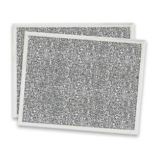 Set of 2 Crushed Crystals Mirrored Glass Placemats Glitter Diamante Table Mats