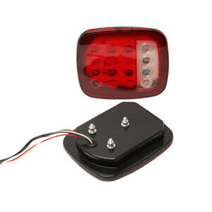 16 LED Bulbs Stud Mount Stop Tail Light Turn Signal Light for Truck JEEP 1 Pair
