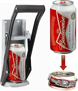 WALL MOUNTED 2 IN 1 16OZ CAN CRUSHER HEAVY DUTY HOME KITCHEN 500ML RECYCLING UK