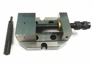 """2-3/8"""" Inches (60 mm) Jaw Width Grinding Steel Vice -Hardened and Ground Finish"""