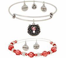 w/ Charms & Swarovski Crystals $133 Qvc Alex and Ani S/2 Bangles