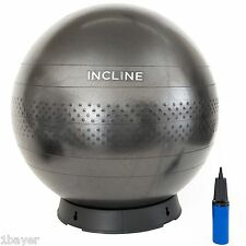 Incline Fit 65cm Anti-Burst Yoga Exercise Gym Fitness Ball Pump Ball Base