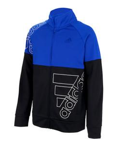 Adidas Big Boys Lightweight Full Zip Track Jacket Long Sleeve Sizes: M, XL Blue