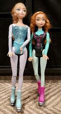 New listing barbie disney Frozen Anna And Elsa Ice Skating Set