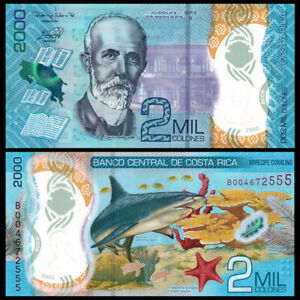 Costa Rica 2000 Colones, 2020, P-New, Polymer, Banknote, UNC