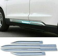 FIT For Ford Edge 2015-2018 ABS Chrome Car Side Body Molding Trim Covers 4PCS