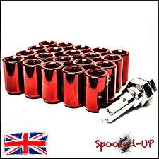 20x RED STEEL WHEEL TUNER NUTS M12x1.5 fit HONDA CIVIC EP3 INTEGRA DC2 DC5