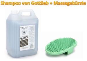 Gottlieb® 5 Liter Hundeshampoo Hundewaschmittel   10 Sorten   plus Massagebürste