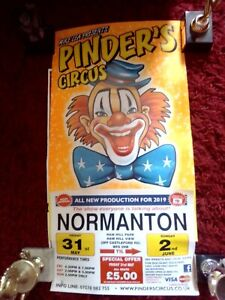 Circus Poster large Pinders Circus Normanton