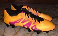 ADIDAS X 15.1 FG AG Solar Gold Orange Pink Black Soccer Cleats NEW Mens Sz 9