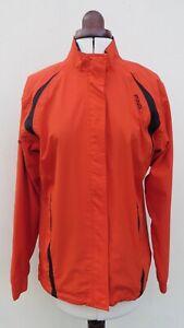 PING bright orange windcheater zip front golf jacket, Size 12