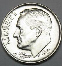 1961 P Roosevelt Dime 100% Fully Separated Horizontal Bands. Bu