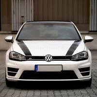 FOLIENTECHNIK BAYER 1004 Motorhaubenstreifen für Golf 7 GTI R (schwarz)