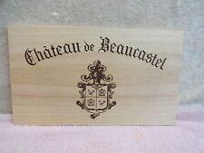 CHATEAU DE BEAUCASTEL CHATEAUNEUF DU PAPE WOOD WINE PANEL
