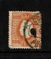 Portugal SC# 44e, Used, center punch cancel, see notes - S5580