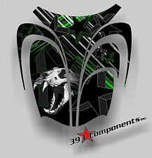 Arctic Cat ZR 600, 500, 800 Mountain 00-06 Graphics Decal Sticker Skull Hood Grn