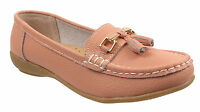 Ladies Womens Leather Deck Casual Tassel Moccasins Loafers Driving Shoes Sizes