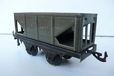 "TRAINS  BING  ""O""   WAGON TRÉMIE 20 TONS  TÔLE   Lg 14cm   1931   BON ÉTAT"