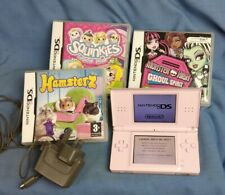 Pink Nintendo DS Lite With Charger And Games Tested Working