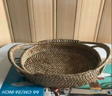 Rattan Bread Basket Woven Tea With Handles For Serving