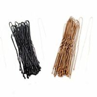 Pack of 36 Long Waved Bobby Pins Hair Grips Clips Black or Brown 4.5cm