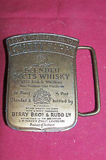 Old Cutty Sark Brass Belt Buckle Scots Whisky Whiskey Distillery Vintage Men's