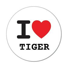 I love TIGER - Aufkleber Sticker Decal - 6cm