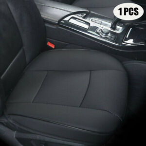 Black PU Leather Car Interior Seat Cover Breathable Protector Cushion Accessory