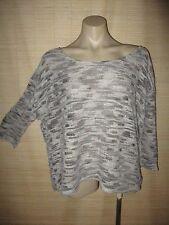 NEW Designer JANA 3/4 Sleeve loose knit top (Granite colour) size XL rrp $95