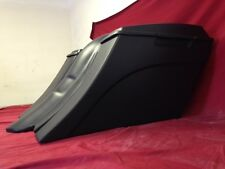 "Harley Davidson 6"" Extended Saddlebags Out & Down Bags + Lids & Custom Rear Fend"