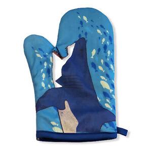 Shark Puppet Hand Oven Mitt Ocean Fish Graphic Novelty Kitchen Accessories (Oven
