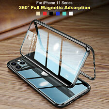 iPhone 12 Pro Max 12 Mini 360° Full Case Magnetic Metal Double Glass Phone Cover