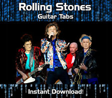THE ROLLING STONES ROCK GUITAR TAB TABLATURE DOWNLOAD SOFTWARE TUITION