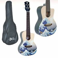 LUNA CONCERT UKULELE THE GREAT WAVE ARTISTIC SERIES WITH GIG BAG