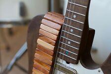 Tigerwood Guitar Strap | Custom | Premium Acoustic | Electric Bass | Leather Alt
