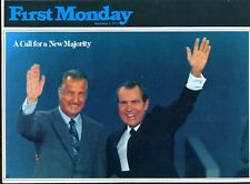 1972 Nixon Re-Election Brochure - First Monday, Sept. 4, 1972
