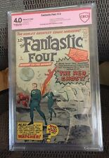 Fantastic Four #13 Apr 1963 Vg 4.0 Cbcs verified signed by Stan Lee & Jack Kirby