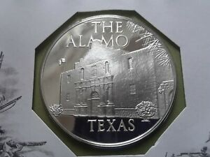 1972 Franklin Mint, proof silver medal TEXAS-THE ALAMO
