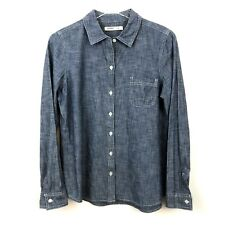 Old Navy Womens Shirt Size Small Medium Wash Denim Chambray