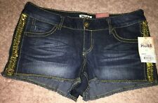 Mudd brand jean shorts sequins on this side size 11