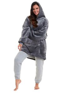 Hoodie Blanket Ultra Soft Sherpa Fleece Warm Cosy Comfy Oversized Hoodie