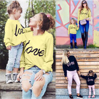 Mother And Daughter Family Matching Clothes LOVE Long Sleeve Sweatshirt Tops