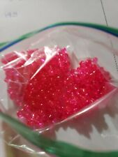Beads- Fit Together Tri Beads -Acrylic Loose Plastic Beads-Hot Pink-85pcs