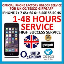 O2 Tesco UK official factory unlock code for iphone 7+ 7 6s+ 6s 6+ 6 5se 5s 5 5c
