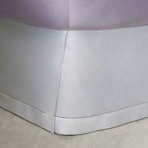 Ralph Lauren 624 Langdon Solid Sateen California King Bedskirt $215 Deco White