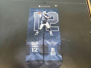 Strideline NFL Tom Brady New England Patriots Premium Crew Socks Mens M/L NEW