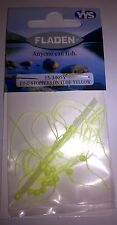 Fladen small bead stops for sea fishing, yellow. New, UK seller