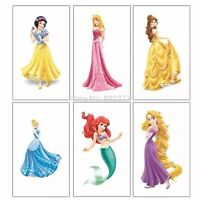 25 Childrens Disney Princess Temporary Tattoos Kids Party Bag Fillers Boys Girls