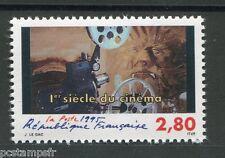 FRANCE 1995, timbre 2921, 1° SIECLE DU CINEMA, PROJECTEUR, LA BETE, neuf**